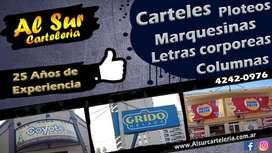 CARTELES Y LETRAS CORPOREAS