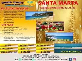 TOUR SANTA MARTA AÑO NUEVO O NAVIDAD