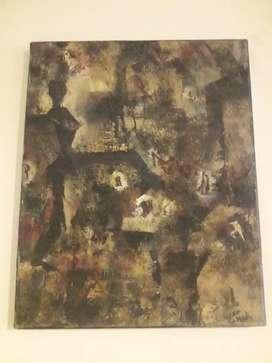 Cuadro abstracto, en óleo