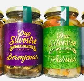 Escabeche Duo Silvestre Berenjenas o Verduras x 500g
