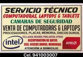 Soporte tecnico integral de Pc's y Laptops