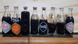 Coleccion de botellitas de coca cola
