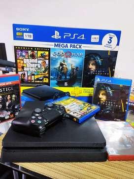 PLAYSTATION 4 - PS4 megapack SLIM 1T PRECIO NEGOCIABLE