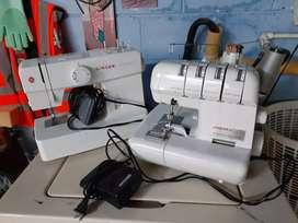 Maquina de coser y fileteadora