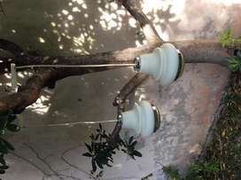 Lámpara de colgar de opalina