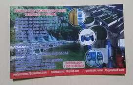 Insumos para tratamiento de agua residual y piscinas