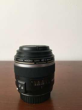 Lente Canon Ef-s 60 Mm F / 2.8 Macro Usm En Perfecto Estado