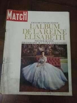 Revista Paris Match Album Reina Elizabeth de Inglaterra 1963