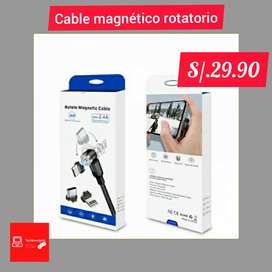 Cable USB magnético 3 en 1 /Tipo C/ micro USB / iPhone