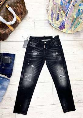 Jeans femeninos dsquared2 negros envio gratis