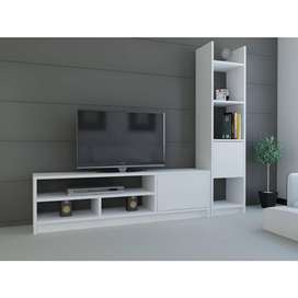 MODULAR RACK PARA TV LCD LED Y BIBLIOTECA