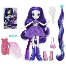 MY LITTLE PONY RARITY Equestria Girl Set Y Accesorios Hasbro Navidad