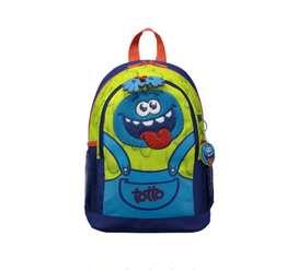 Morral marca TOTTO mediano para niño cookie M - Verde-0DS-Cookie