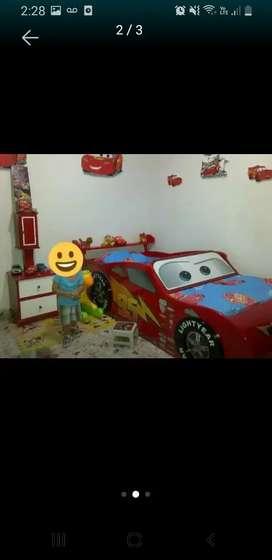 Cama carro cars 1 mt