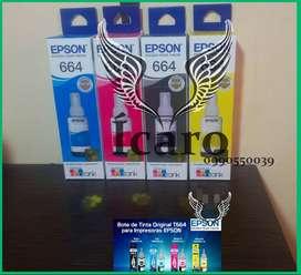 Tintas Originales Epson 664 Ecotank Juego de 4 Colores remate
