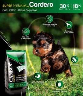 Canbo Cachorros raza pequeña sabor cordero de 7 kilos con delivery gratis