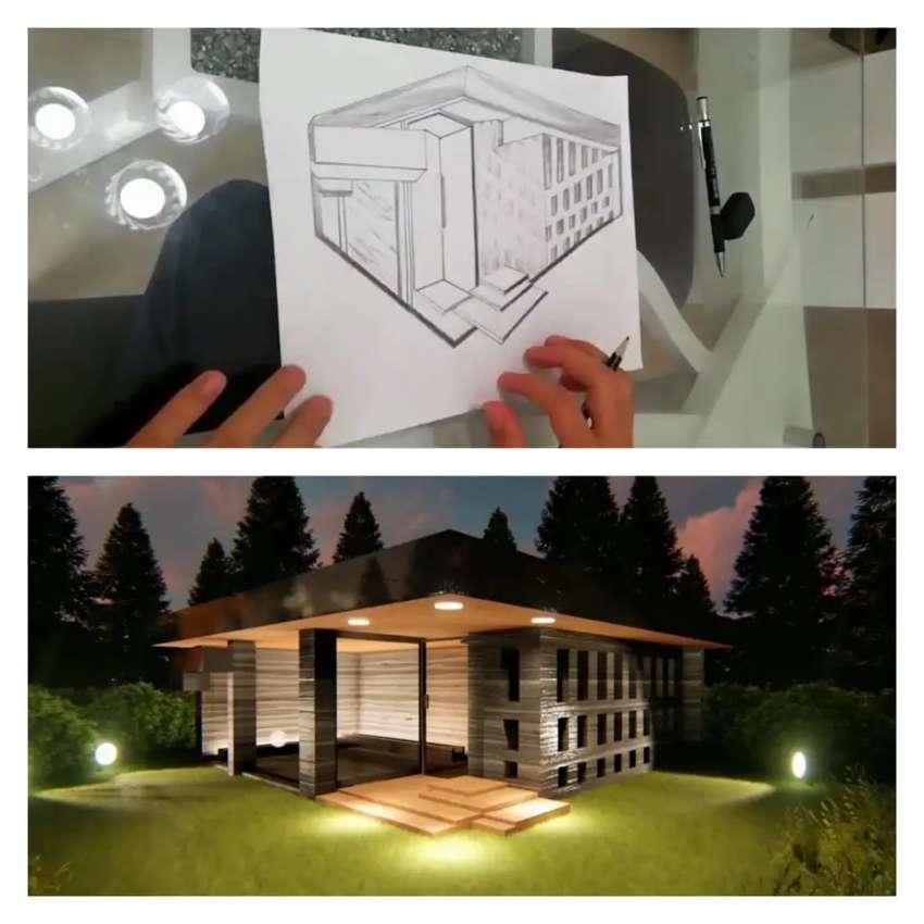 Pasamos tu dibujo bosquejo a 3D