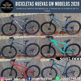 Gw bicicletas Nuevas GANGA!! No te pierdas está oportunidad, domicilio gratis y pagas en la puerta de tu casa o empresa.