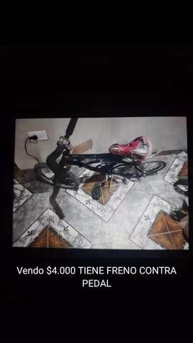 Vendo bici rod 20 y rod 16