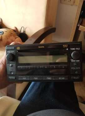 vendo radio cd  carro para  toyota