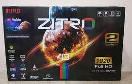 """Tv de 43"""" marca Zitro smart tv"""