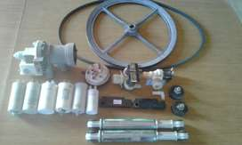 Accesorios de Lavarropas: Amortiguadores, patas, capacitores, bombas de agua y de carga
