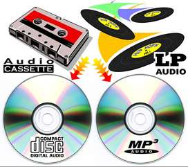TRASPASO DE CASSETTES DE AUDIO Y LPS A DIGITAL O CD