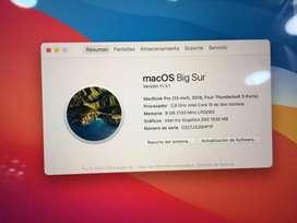 Macbook Pro Touch Bar Disco 512 gb MacOS Big Sur