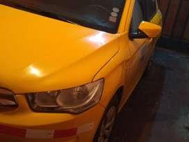 taxi con puesto de cooperativa