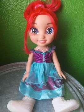 Muñeca Disney de la sirenita bebé Ariel-juguete para niñas-