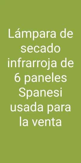 Lámpara de secado por infrarrojos de 6 paneles Spanesi usada