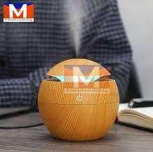 Humidificador Difusor De Aroma Redondo Madera Ultrasonico