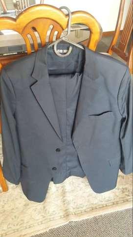 Vestido de Paño gris claro Hernan Barrios, Talla XL hombre