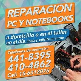 Reparación de computadoras a domicilio y en el día