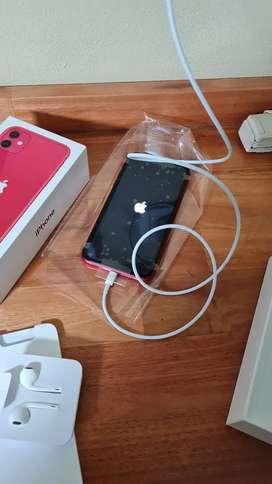 IPhone 11 rojo de 128g