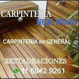 Revestimientos, decks, pergolas, carpinteria en general, diseño y armado de muebles. Corizaciones al whatsapp