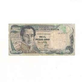 Billete De 1000 Pesos Oro De Colombia Con Envio Gratuito