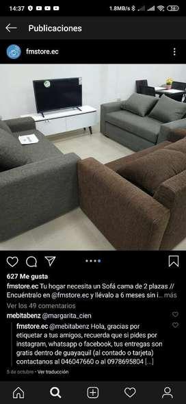Se Vende Sofa Cama de Dos Plazas Nuevo