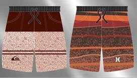 son 25 diseños de excelente calidad para sublimación de pantalonetas