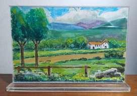Casa en el campo cuadro decorativo