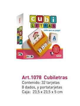 Juego didáctico  - Cubi letras