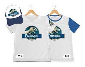 camiseta mas gorra para niño Jurassic Word