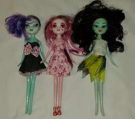 3 muñecas monster high