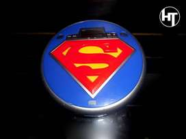Dc Comics, Superman, Discman, Cd Walkman, Reproductor De Cd Portatil, Original Oficial, Muy Raro.