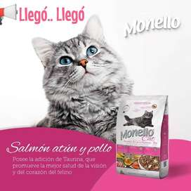 Monello Cat salmón, atún y pollo - 15 kg