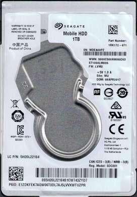 disco nuevo  1 terabyte seagate portatil