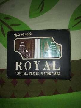 Royal-cartas de Casino Plasticas