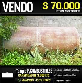 TANQUE DE COMBUSTIBLES - CAP 3.000 LTS.