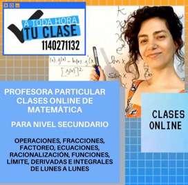 clases particulares online de matematica para secundario cbc y universidad