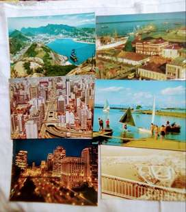6 Tarjetas Postales de Brasil
